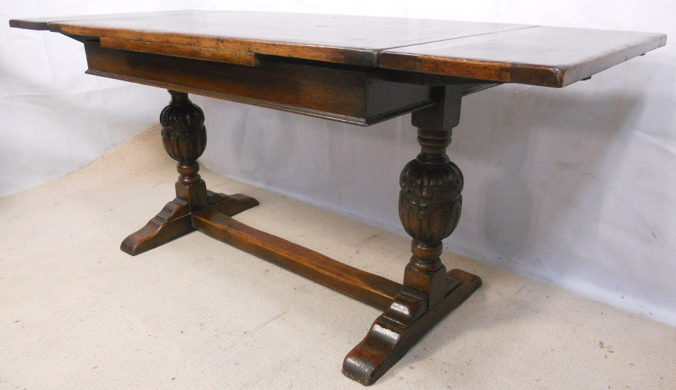 Jacobean Style Carved Oak Drawerleaf Refectory Dining  : jacobean style carved oak drawerleaf refectory dining table sold 4 2107 p from www.harrisonantiquefurniture.co.uk size 973 x 562 jpeg 179kB